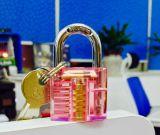 A través de brillante color candado candado Material acrílico transparente, candado, Al-E005