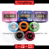 730PCS/Kristallbildschirm-Art-Schürhaken-Chipset mit in Aluminiumfall-Kasino-Chipset für 5-10 spielende Spiele (YM-SJSY001)