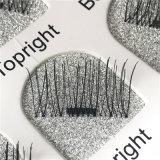 Cigli magnetici falsi dei capelli umani del visone di seta naturale