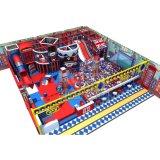 Крытый тип Англии оборудования спортивной площадки с мягкими спортивной площадкой и скольжением