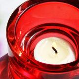 Suporte para velas redonda de vidro colorido Tealight para