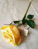 인공적인 플라스틱 실크 꽃 단 하나 로즈