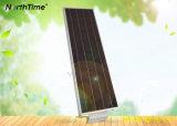 25W réverbère complet de l'énergie solaire DEL avec la batterie au lithium