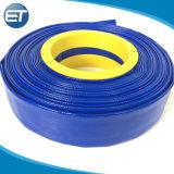 Voyant bleu de l'Agriculture de l'irrigation Layflat en PVC flexible de décharge de l'eau