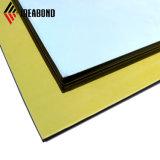 Haut jaune brillant creux panneau composite en aluminium