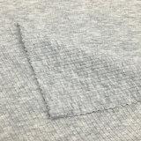 95%Cotton 5%Spandex 160GSMは袖口及びカラーのための綿のニットファブリックを肋骨で補強した