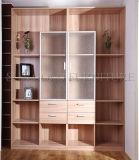 Armário de arquivos de madeira com alça pequena estante de livros Gabinete (SZ-FCT609)