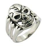 Joyas de acero inoxidable Skull Ring Anillo personalizado