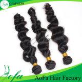 7A等級ブラジルボディ波のバージンの毛のRemyの人間の毛髪のよこ糸