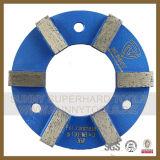 Garnitures de meulage de diamant d'obligation en métal de 4 pouces pour le béton