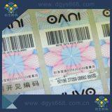 Kundenspezifisches Barcode-Zahl-Laser-Aufkleber-Drucken