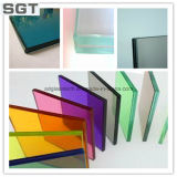 Couleur Laminated Glass Color Film Polished Edges 6.38 millimètres
