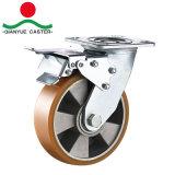 Heavy Duty PU sur aluminium Roulette pivotante