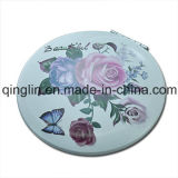 Custom Special Design Personnalisé Printed Leather Cover Pocket Mirror