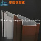 Revêtement en poudre de couleur bronze Curain mur de profil en aluminium