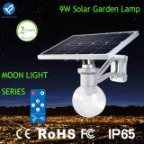 Lâmpada de parede solar do jardim do diodo emissor de luz na forma da lua