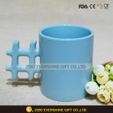 Tazza di ceramica calda della maniglia dei caratteri cinesi di vendita a forma di