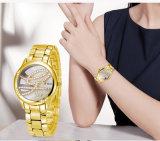 Belbi einfache kann Vorwahlknopf-Geschäfts-Armbanduhr-analoger ultradünner Edelstahl für Frauen-Abnehmer Firmenzeichen und Wordings auf den Uhren ausgehöhlt werden oder geprägt werden