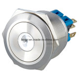 25mm Momentary 1no1nc DOT LED Metal Pushbutton Switch (ステンレス鋼)