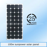 Sale chaud 100With200W Sunpower Monocrystalline picovolte Panel