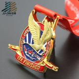 旧式な青銅色の柔らかいエナメルはカスタムトロフィおよびメダルを遊ばす