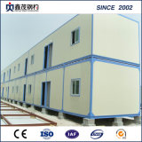 Casa del envase con la estructura del marco de acero usada para el dormitorio, oficina temporal