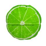 プラシ天柔らかい緑レモンクッション
