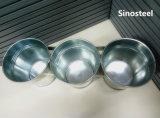Комплект 3 кругового гальванизированного ведра металла