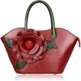 De Handtas van het Ontwerp van de Handtas van het Leer van de Bloem Pu van de manier Dame Handbag 2018 de Handtassen van Vrouwen (WDL0488)