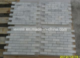 Natürliches weißes Wand-Marmor-Steinmosaik und Mosaik-Fliesen