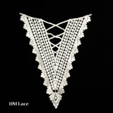 100%年の綿の水溶性の刺繍されたネクタイのかぎ針編みのレースカラーパターンX017