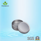 tarro de aluminio de la especia de los envases cosméticos de aluminio de plata redondos 15g