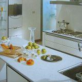 Calacatta losa fábrica Mueble de cocina material artificial piedra del cuarzo