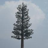 Antenna cammuffata dell'albero di pino che cela torretta
