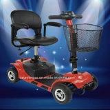 Vespa eléctrica lisiada de cuatro ruedas, vespa de la movilidad para una más vieja gente