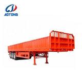 판매 (선택 뒷문 바구니 구조)를 위한 반 3axle 60tons 측벽 화물 트레일러