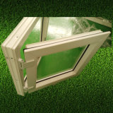 Wc Panel Singe UPVC ventana Toldo de cristal con escarcha