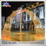 Для использования вне помещений LED рождественские украшения улиц света LED колесной арки стиле фонари