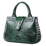 Gute Qualitätspersönliche Customzied Entwurfs-Grün-Krokodil-Leder-Handtasche für Frauen