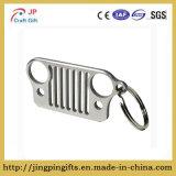 Keyring de Keychain del encadenamiento dominante de la parrilla del jeep del acero inoxidable (plata)