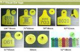 De Ronde van LF of Markering van het Oor RFID van de Vorm van de Vlag de Dierlijke