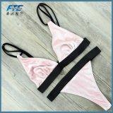Пользовательское обозначение бархатной ткани Sexy бразильского линии бикини