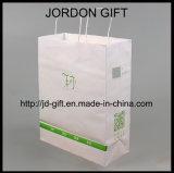 L'impression personnalisée de papier Kraft un sac de shopping avec QR Code et le logo