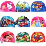 아이들 만화 폴리에스테 수영 모자