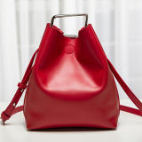 正方形の整形ハードウェアEmg4724が付いている高品質デザイナー女性のバケツ袋
