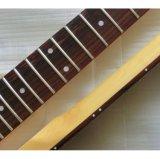 Da garganta Tele feita sob encomenda da guitarra do vintage da cor da natureza nitro Finished envelhecido