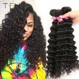 En bruto de alta calidad de tejido de cabello virgen brasileño cabello humano.