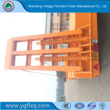Transport 3 bulldozer Fuhua/essieu BPW Système de freinage ABS Lowbed en acier au carbone semi remorque de camion pour la vente