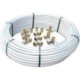Encaixes da compressão no bronze para as tubulações Multilayer - cotovelo igual