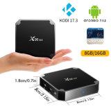 Kodi 17.3 X96mini人間の特徴をもつTVボックスAmlogic S905Wのセットトップボックスのサテライトレシーバのスマートなメディアプレイヤー